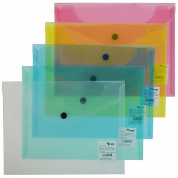 BEAUTONE Carpeta dossier bolsa con broche translucido