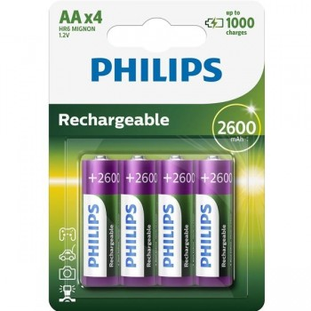 PHILIPS Pila recargable LR06 AA