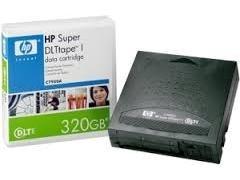 Cartucho DE datos HP super DLt tape 1 220gB-320gb