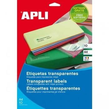 APLI Etiquetas i/l/c transparentes y translucidas 70x37mm (10hojas)