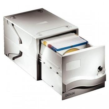 Archivador 25 CD con caja drawer 19,1x16,5x30,7cm gris