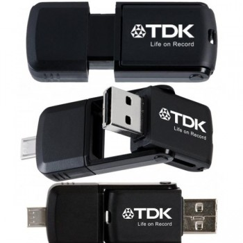 2 in 1 micro USB flash drive 64GB 2.0 para android TDK
