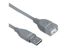 Cable USB Hama tipo A-A  3m gris