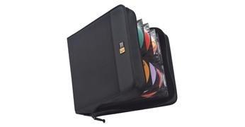 CASE LOGIC Fichero CD's/DVD's ProSleeve acolchado grueso 208 CD's 315x65x290 mm negro