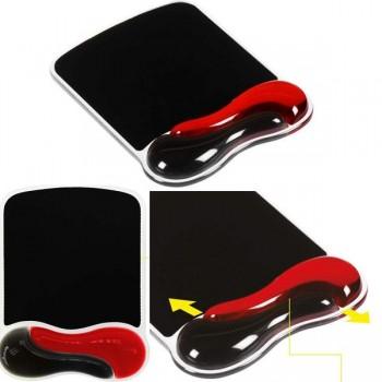 Alfombrilla para ratón con reposamuñecas duo gel negro/rojo