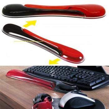 Reposamuñecas duo gel teclado negro/rojo