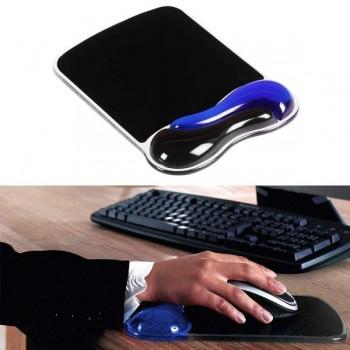 Alfombrilla para ratón con reposamuñecas duo gel negro/azul