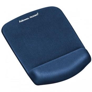 Alfombrilla para ratón con reposamuñecas Foam Fusion PlushTouch azul