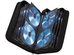 Estuche data bank cd case 120 cd azul metalizado