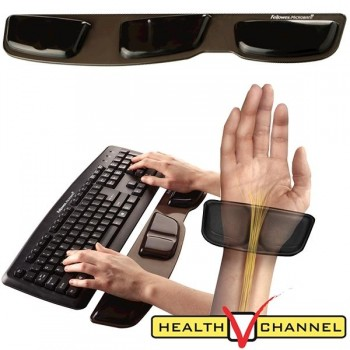 FELLOWES Reposamuñecas teclado gel Health-VTM negro