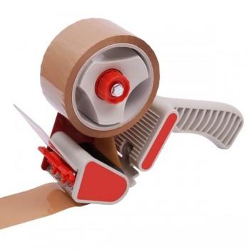 NOVA PLUS Portarrollo para cinta embalar cuchilla acero