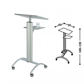 atril orador medium lectern 1 estante inferior 40X30cm con ruedas 60X45x130cm