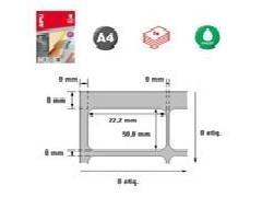 APLI Indice A4 autoadhesivo inkjet 22,2x50,8mm (100ud)