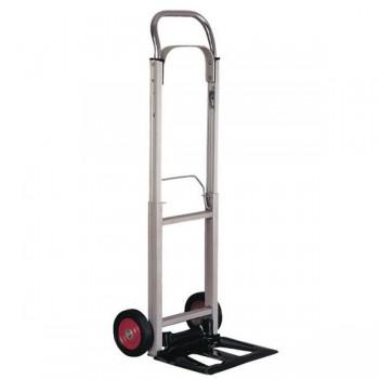 Carretilla portapaquetes con ruedas plegable aluminio carga 90 kg 111x39x41cm