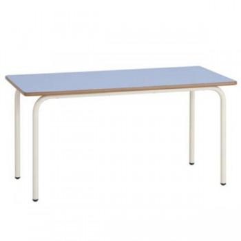 Mesa rectangular con estructura metállica redonda de 30mm 120x70x60 cm T3