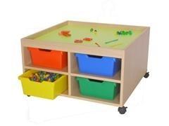 Mesa de juegos con ruedas 83x83x49 cm