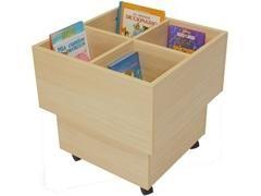 Cubo librería fabricado en melamina de haya de 19 mm 60x60x60 cm