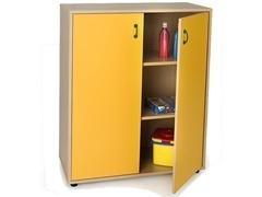 Mueble armario 2 puestas y 3 estantes fabricado en melamina de haya de 19 mm 90x40x112 cm