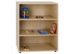 Mueble armario 3 estantes fabricado en melamina de haya de 19 mm 90x40x112 cm