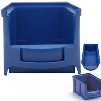 Bandeja apilable de polipropileno 33,2x21,1x17,4cm color azul