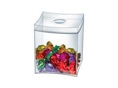 Caja multifunción con tapa color cristal transparente