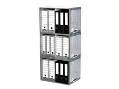 Pack 5 Contenedor archivo cartón Aplilable stax 540X390X400mm gris
