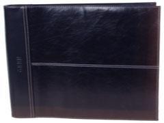 GABBIANO Carpeta 4 anillas con bloc piel NEGRO