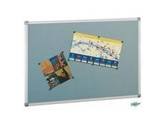 Tablero anuncios tapizado marco aluminio 90X150cm gris