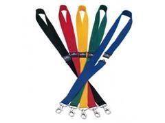 Pack 10 cintas portanombres con cierre seguridad 2x4,4cm amarillo