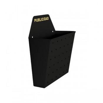 Buzón publicidad metálico Sie 26x10x35cm negro