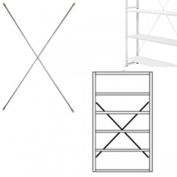 Cruceta para estanterías gris claro RAL 7035 219,2x120cm