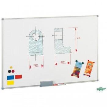 Pizarra blanca  mural Faibo   mural Faibo  acero lacado marco aluminio con cajetín 120x200 cm