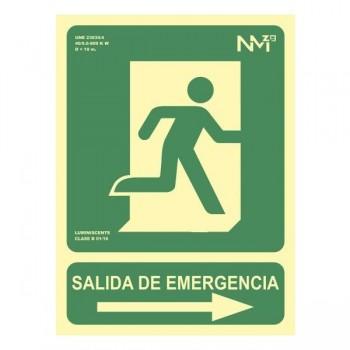 Señal Archivo 2000 normalizada de salida de emergencia derecha 30x22,4 cm