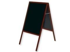 Pizarra caballete doble cara superficie negra marco de madera 60x90cm