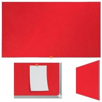 """Nobo Tablero Nobo panorámico de fieltro 55\"""" (1230X700 mm) rojo brillante"""