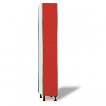 Taquigrup Taquilla simple fenólica con perfil de aluminio 30 cm ancho con 1 puerta de altura