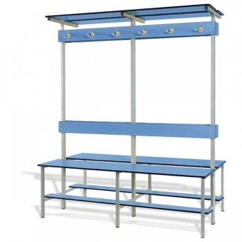 Taquigrup Banco de vestuario doble fenólico estructura de acero pintado 100x178x74 cm