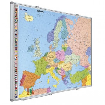 Mapa Europa magnético 105x125cm