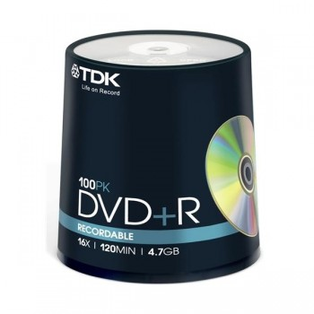 TDK DVD+R 1-16x 4,7GB tarrina