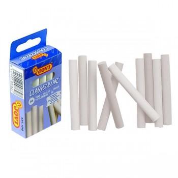 Caja 10 tizas antipolvo blancas