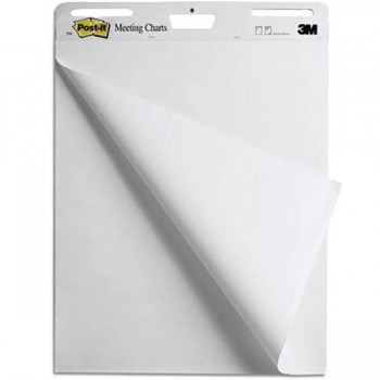 Bloc papel Pizarra 3M Post-it 30h lisas 77,5x63,5cm