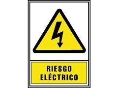 Señal normalizada PVC riesgo eléctrico 297x210cm