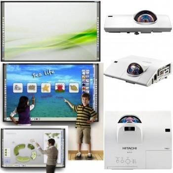 Pizarra interactiva StarBoard FX79 y proyector Hitachi CPD27