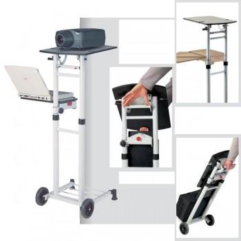 Mesa de proyección Proyecta Standmaster profesional metálica blanca