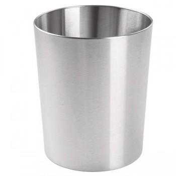 SIE Papelera redonda acero inoxidable 12 litros