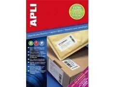 APLI Etiqueta inkjet / laser / copy adhesivo extra fuerte cantos rectos a4