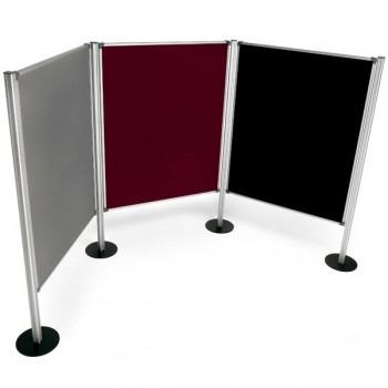 Mampara modular tapizada 120X150cm negra