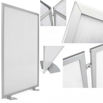 Mampara modular Limit de policarbonato perfil de aluminio 180x100cm