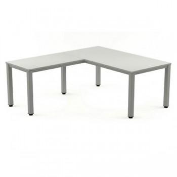 Ala mesa para serie Executive 100x60x72-77 cm blanco/gris