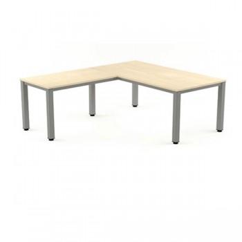 Ala mesa para serie Executive 100x60x72-77 cm aluminio/haya